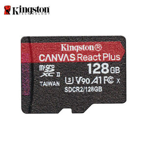 Kingston Canvas React Plus 128G microSDXC UHS-II U3 Card for 4K/8K Action Camera