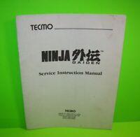 Ninja Gaiden Original Video Arcade Game Service Instruction Manual Tecmo 1988