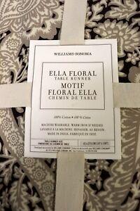 Williams Sonoma Ella Floral Table Runner NWT