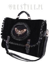 Restyle Moth Black Bug Wings Skull Punk Charm Skeleton Satchel Bag Purse Handbag