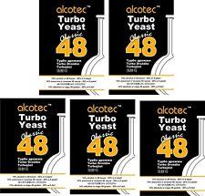 5 x Alcotec Turbohefe 48h  CLASSIC Gärhefe Hefe kostenloser versand