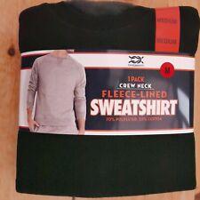 """Bridgeport Fleece-Lined  Crew-Neck Sweatshirt, Large (42""""-44""""), Black, BNWT"""