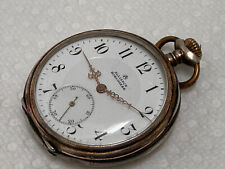 Horlogere 0.800 sterling silver case antique pocket watch private label Alliance