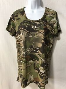 Under Armour UA Threadborne Early Season Forest Camo Womens Shirt Large #1298745