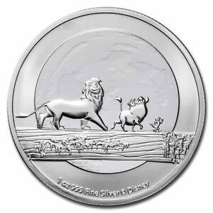 2021 Silver 1 oz $2 Disney Lion King Hakuna Matata Brilliant Uncirculated