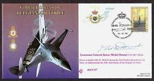 SIGNED FDC COVER BARON MICHEL DONNET SPITFIRE PILOT BELGIUM AIR FORCE JUBILEE