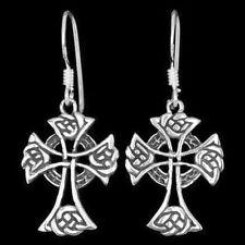 1 Paar Ohrhänger keltisches Kreuz Ohrringe aus 925er Sterling Silber