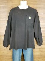 Carhartt Brown Original Fit Long Sleeve T-Shirt Mens Size Large L