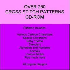 Cruz puntadas Cd-rom - más de 250 Diseños!