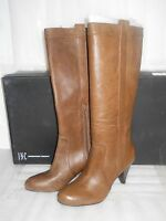 INC International Concepts New Womens Trisha Brown Leather Boots 9.5 M Shoes