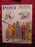 Saturday Evening POST March 4 1961 ALAJALOV JACK SCHAEFER +