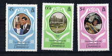 DOMINICA 1981 ROYAL WEDDING SET OF ALL 3 COMMEMORATIVE STAMPS MNH