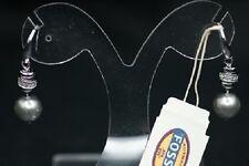 FOSSIL Damen 925 Silber rhodiert Ohrringe Ohrhänger JFS00017 große Perle x NEU