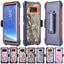 Armor Camo Cases For Samsung Galaxy S9 S8 Plus Note 8, Clip Belt Fits OTTERBOX