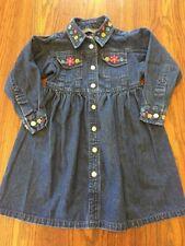 Girls Copper Key Denim Long Sleeve Dress Size 4T