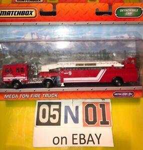 Matchbox Mega Ton Fire Truck & Detachable Cab 2010 Larger Convoy Size New