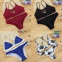 2017 Women Swimwear Bandage Bikini Set Push-up Padded Bra Bathing Suit Swimsuit
