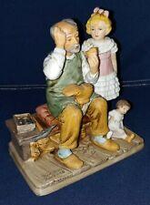 "1979 Norman Rockwell Porcelain Figurine ""The Cobbler"" ~ Americana"
