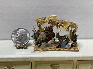 XMAS In JULY Vintage Artisan MARKLAND '88 Tiny Nativity Dollhouse Miniature 1:12