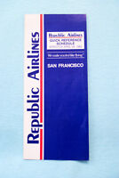 Quick Reference Schedule - San Francisco - 4/28/85  - Republic Airlines