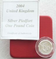 2004 Forth Rail Brücke Piedfort ein Pfund Silber Beweis Münze Etui Coa