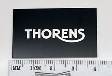 Thorens Turntable Badge Logo For Dust Cover Black/Silver Custom Made TD180