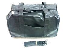 Black Poly Duffel Bag with Handles & Shoulder Strap 14x9x8 Gym Bag, Shoe Storage