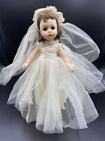 """Vintage Rare Madame Alexander Lissy #1235 Bride Brunette Doll 11 1/2"""""""