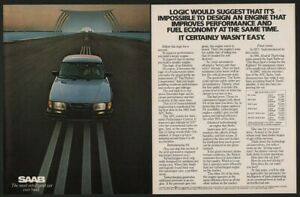 1982 Blue SAAB Turbo Sports Car VINTAGE AD