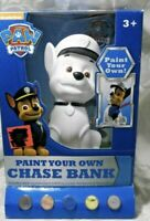 """⭐️RARE PAW PATROL """"CHASE"""" POLICE DOG PAINT-YOUR-OWN PIGGY BANK 2016 Spin Master"""