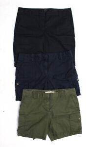 J Crew Womens Zipper Fly Bermuda Shorts Gray Blue Black Cotton Size 10 Lot 3