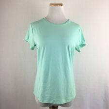 Banana Republic Women's Short Sleeve Scoopneck Mint Gree Stretch Tee T-Shirt Lar