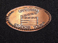 VINTAGE ELONGATED SOUVENIR COPPER PENNY UNIVERSAL STUDIOS TOUR