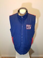 New York Giants Reversible GIII NFL Full Zip FOOTBALL Jacket VEST large