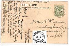 AZ376 1910 GB * de Ferrocarril Midland Tpo De Norte * Castleton {samwells} Pts Postal
