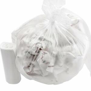 4 Gallon Small Clear Trash Bags, Tear Resistant Bulk Rolls by Mop Mob