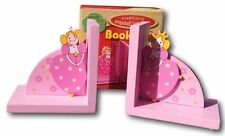 Set of two wooden Princess shaped bookends perfect for a child's bedroom