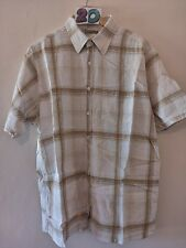 "(20) Men's box shape Cedarwood state checked shirt XL 50"""