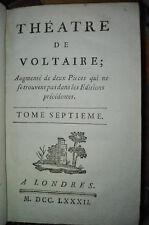 1782 - Theatre de Voltaire - Tome Septieme