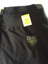 Marks And spencer New Black Leisure Trousers. Size 16 Medium