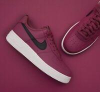 Mens Nike Air Force 1 Low Sneakers, Vintage Wine / Black AA4083-601 NEW IN BOX