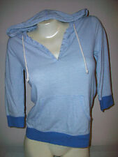 Women's Size XS OLD NAVY Striped 3/4 Sleeves Hoodie Top