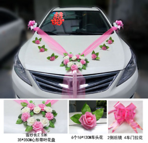 Romantic Style Heart-shaped Wedding Car Decoration Flowers Set Wedding Rose