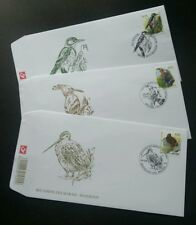 Belgium Birds Of Buzin 2003 Fauna Wildlife Woodpecker (stamp FDC 3's)