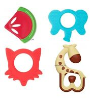 Dr Brown's Options Soothing Teether, Giraffe, Fox, Elephant - Freezer Safe
