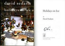 David Sedaris SIGNED AUTOGRAPHED Holidays on Ice HC 1st Edition 1st Print MINT