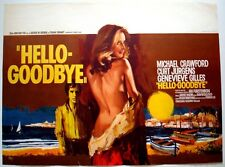 HELLO GOODBYE Belgian movie poster GENEVIEVE GILLES 1970 NM RAY ELSEVIERS Art