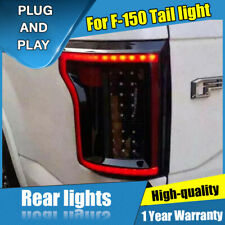 For Ford F-150 Dark LED Rear Lamps Assembly LED Tail Lights 2015-2019