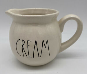 Rae Dunn Magenta CREAM  Creamer Pitcher Jar Small Coffee Tea Magenta Farmhouse