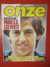 Magazine ONZE n°81 SEPTEMBRE 1982 Monaco poster PSG St-ETIENNE Girondins SPETCH